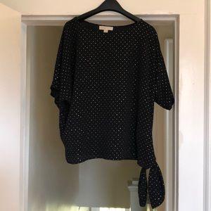 Michael Kors side tie blouse. Size XL.